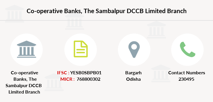 Co-operative-banks The-sambalpur-dccb-limited branch