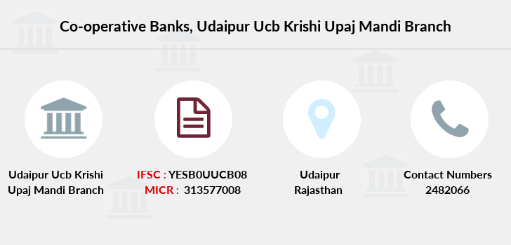 Co-operative-banks Udaipur-ucb-krishi-upaj-mandi branch