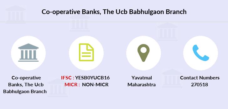 Co-operative-banks The-yavatmal-ucb-babhulgaon branch