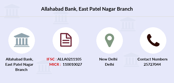 Allahabad-bank East-patel-nagar branch