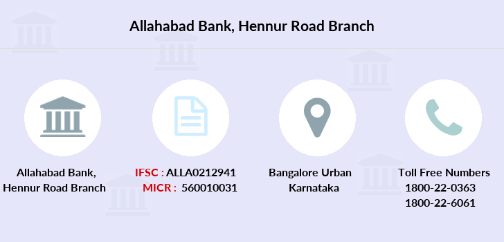 Allahabad-bank Hennur-road branch