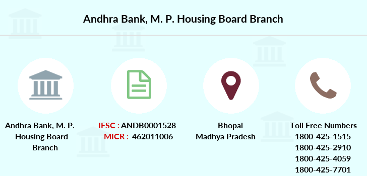 Andhra-bank M-p-housing-board branch