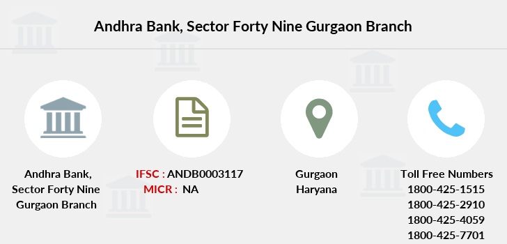 Andhra-bank Sector-forty-nine-gurgaon branch