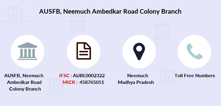 Au-small-finance-bank-limited Neemuch-ambedkar-road-colony branch