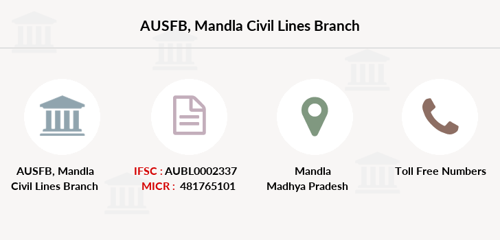 Au-small-finance-bank-limited Mandla-civil-lines branch
