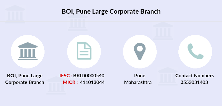 Bank-of-india Pune-large-corporate branch