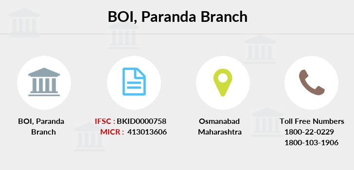 Bank-of-india Paranda branch