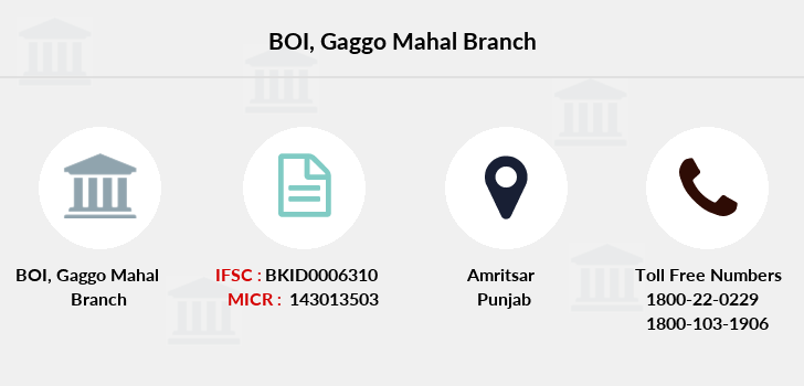 Bank-of-india Gaggo-mahal branch