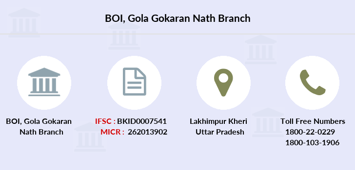 Bank-of-india Gola-gokaran-nath branch
