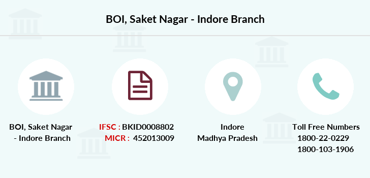 Bank-of-india Saket-nagar-indore branch