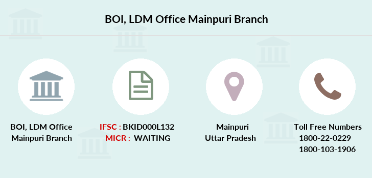 Bank-of-india Ldm-office-mainpuri branch