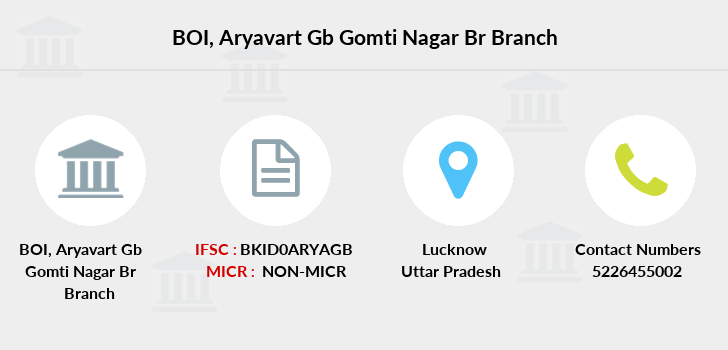 Bank-of-india Aryavart-gb-gomti-nagar-br branch