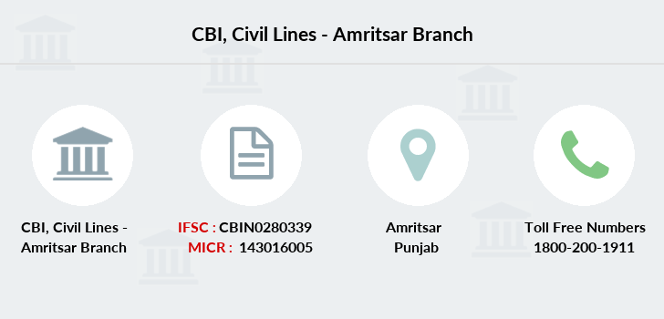 Central-bank-of-india Civil-lines-amritsar branch