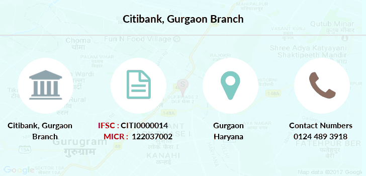 Citibank Gurgaon branch
