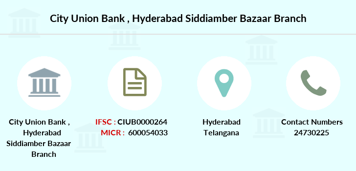 City-union-bank Hyderabad-siddiamber-bazaar branch