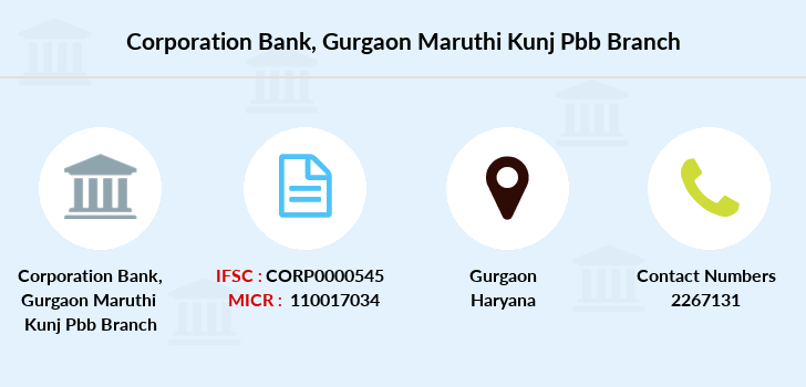 Corporation-bank Gurgaon-maruthi-kunj-pbb branch