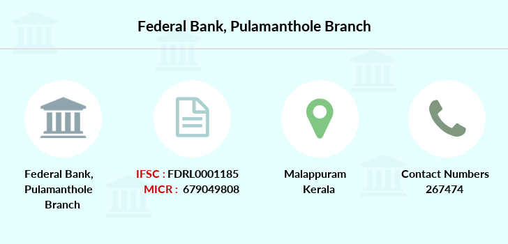 Federal-bank Pulamanthole branch