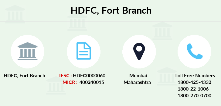 Hdfc-bank Fort branch