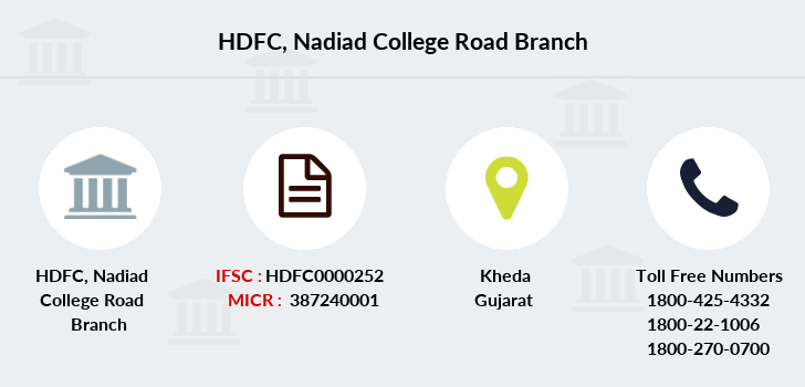 Hdfc-bank Nadiad-college-road branch