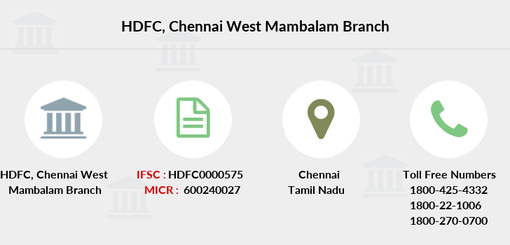 Hdfc-bank Chennai-west-mambalam branch