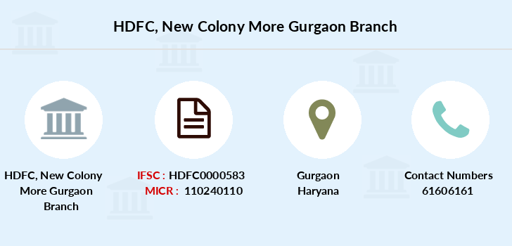 Hdfc-bank New-colony-more-gurgaon branch