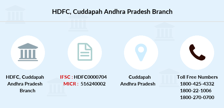 Hdfc-bank Cuddapah-andhra-pradesh branch