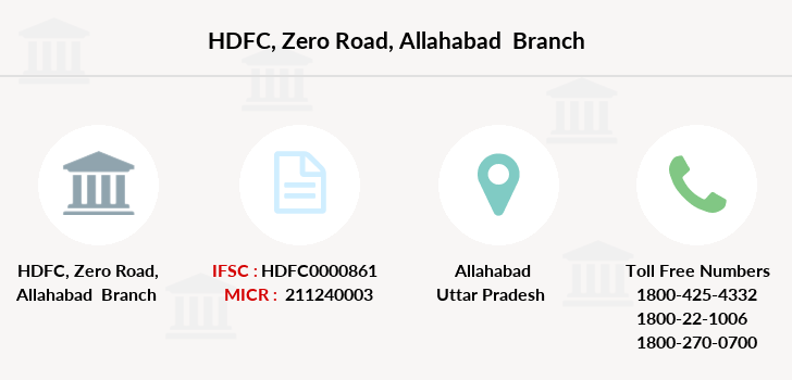 Hdfc-bank Zero-road-allahabad branch