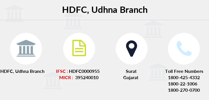 Hdfc-bank Udhna branch