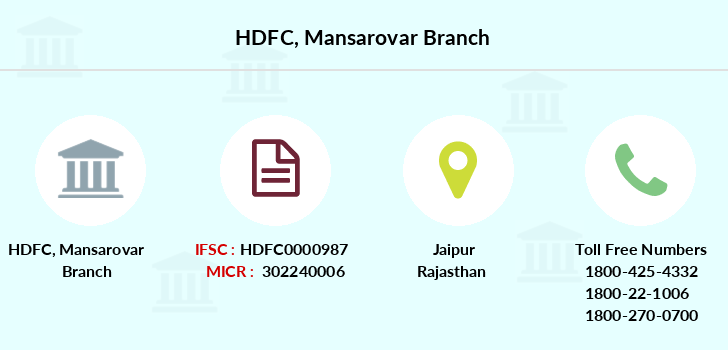 Hdfc-bank Mansarovar branch