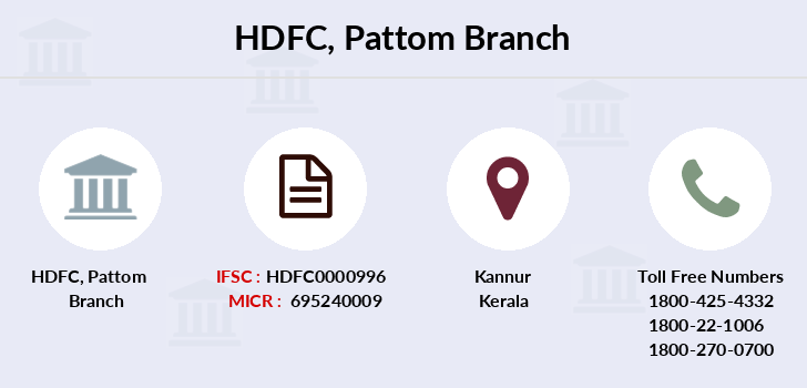 Hdfc-bank Pattom branch