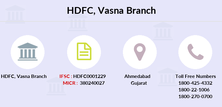 Hdfc-bank Vasna branch