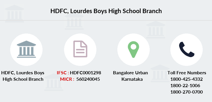 Hdfc-bank Lourdes-boys-high-school branch