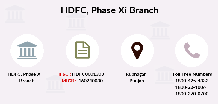 Hdfc-bank Phase-xi branch