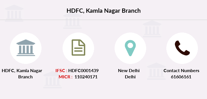Hdfc-bank Kamla-nagar branch