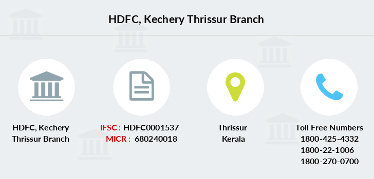Hdfc-bank Kechery-thrissur branch