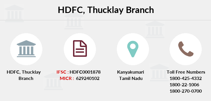 Hdfc-bank Thucklay branch