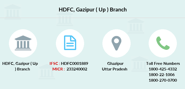 Hdfc-bank Gazipur-up branch