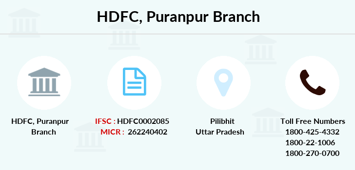 Hdfc-bank Puranpur branch