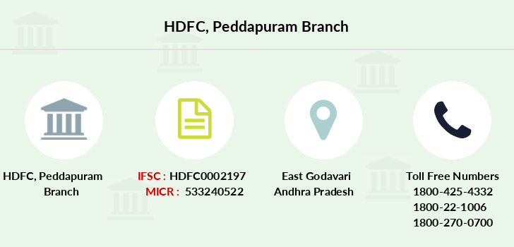 Hdfc-bank Peddapuram branch