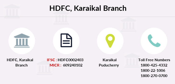 Hdfc-bank Karaikal branch