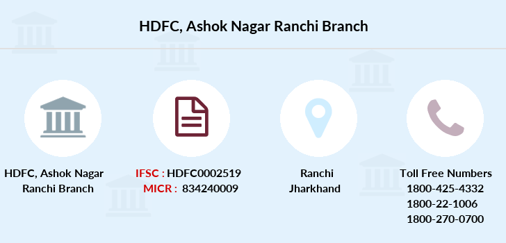 Hdfc-bank Ashok-nagar-ranchi branch