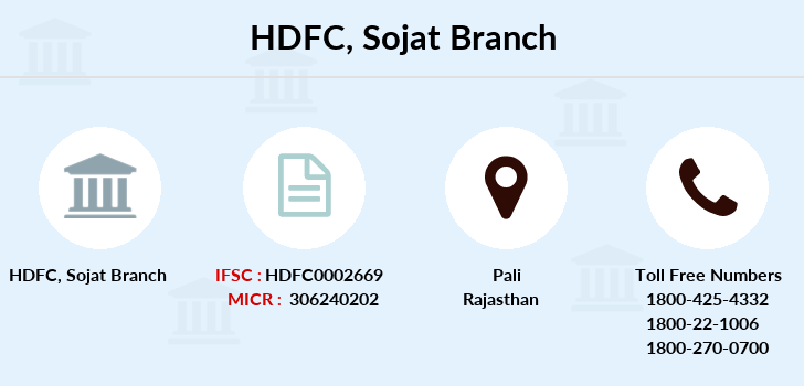 Hdfc-bank Sojat branch