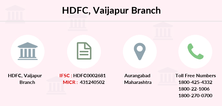 Hdfc-bank Vaijapur branch