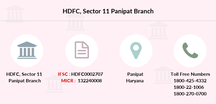 Hdfc-bank Sector-11-panipat branch