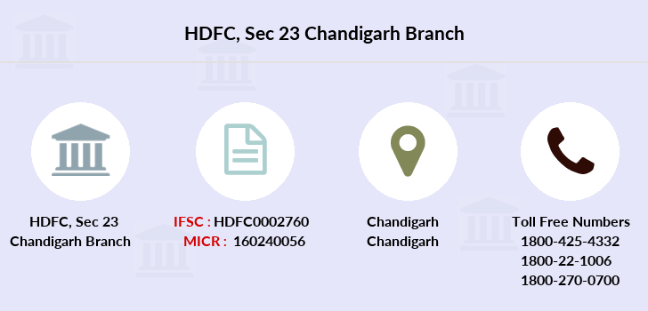 Hdfc-bank Sec-23-chandigarh branch