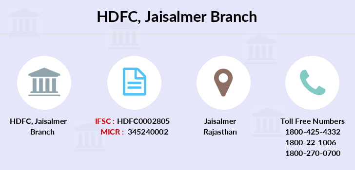 Hdfc-bank Jaisalmer branch