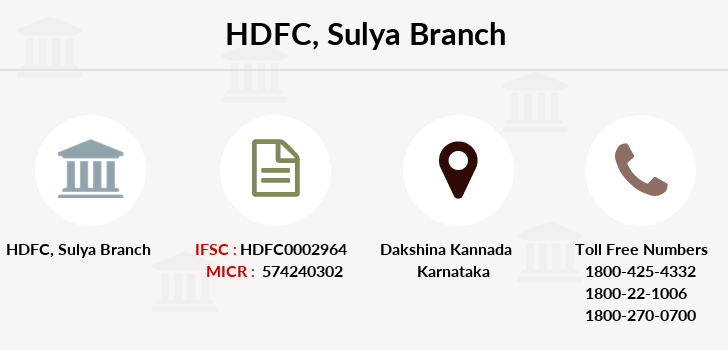 Hdfc-bank Sulya branch