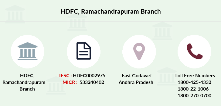 Hdfc-bank Ramachandrapuram branch