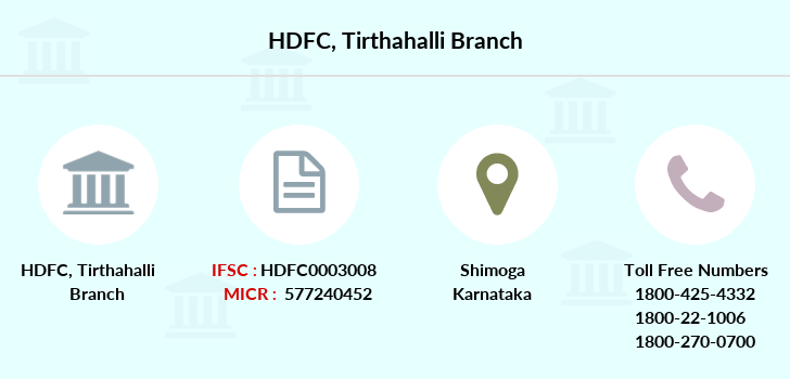 Hdfc-bank Tirthahalli branch