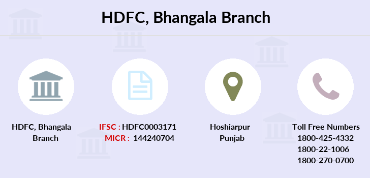 Hdfc-bank Bhangala branch